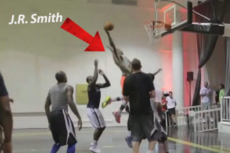 1744db24e678 Knicks  JR Smith and Carmelo Anthony Tear Up Private NYC Pickup Game ...