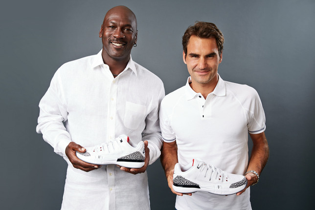 online store 89bb0 c0349 Roger Federer Unveils the NikeCourt Zoom Vapor AJ3 at 2014 ...