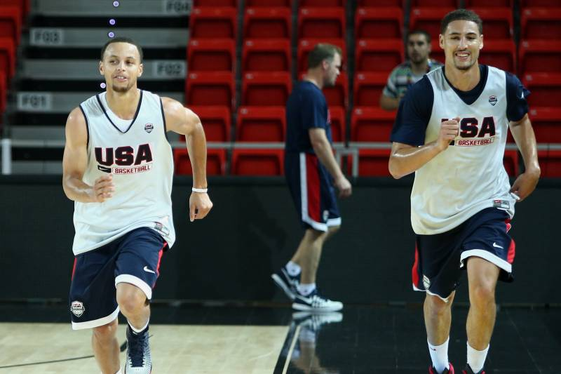 new products 68ca3 d691c Stephen Curry and Klay Thompson s Team USA Experience Will Pay off for  Warriors