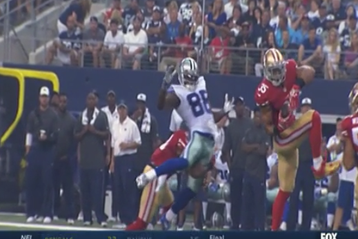 Dez Bryant Takes Vicious Hit From 49ers Safety Antoine