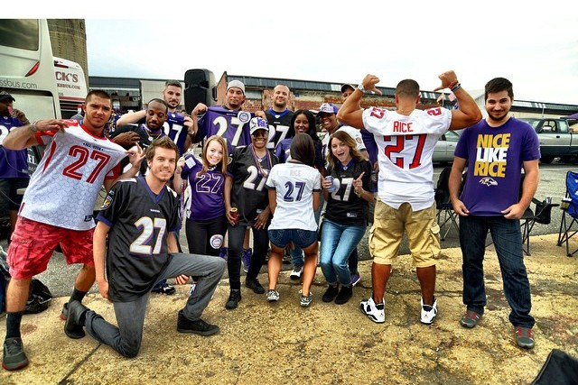 9c1bb4092a0 Baltimore Ravens Fans Wear Ray Rice Jerseys to Game vs. Steelers ...