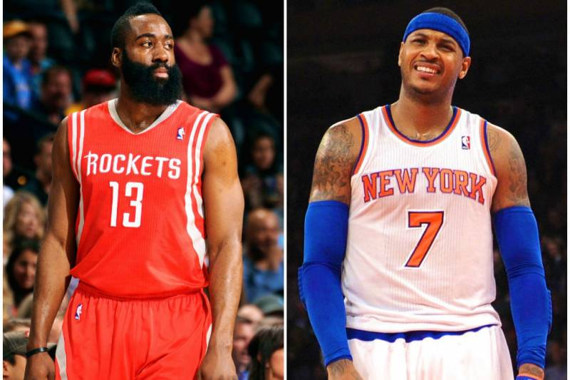 8e5e000510a Getty Images. Carmelo Anthony and James Harden have been polarizing  superstars over ...
