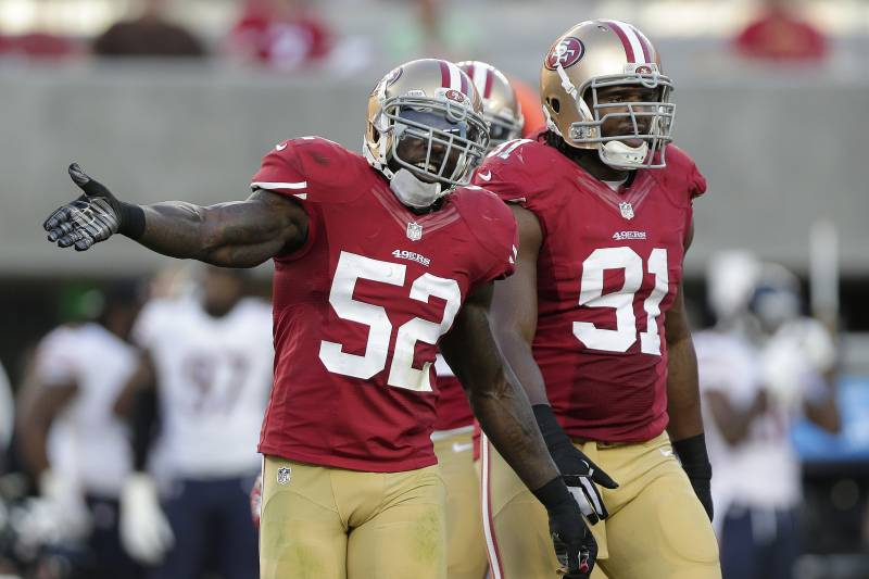 01d9a64ee92 San Francisco 49ers linebacker Patrick Willis (52) and defensive tackle Ray  McDonald (91