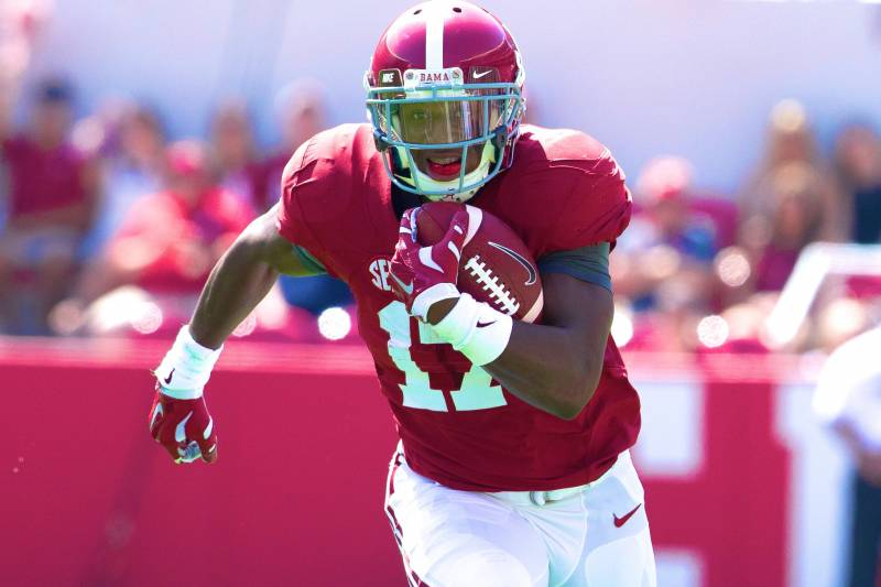 half off 1731d 917e8 Kenyan Drake Injury: Updates on Alabama RB's Leg and ...