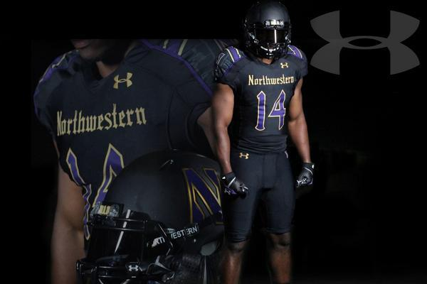 wholesale dealer 2fe22 2699a Northwestern Unveils New 'Gothic' Uniforms for Game Against ...