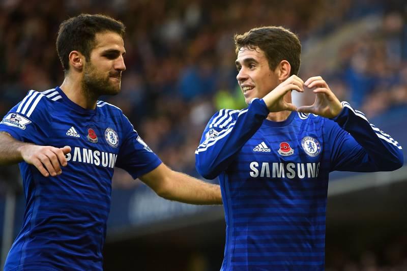 Oscar Takes Chelsea Plaudits, but Cesc Fabregas Still Pulling the ...