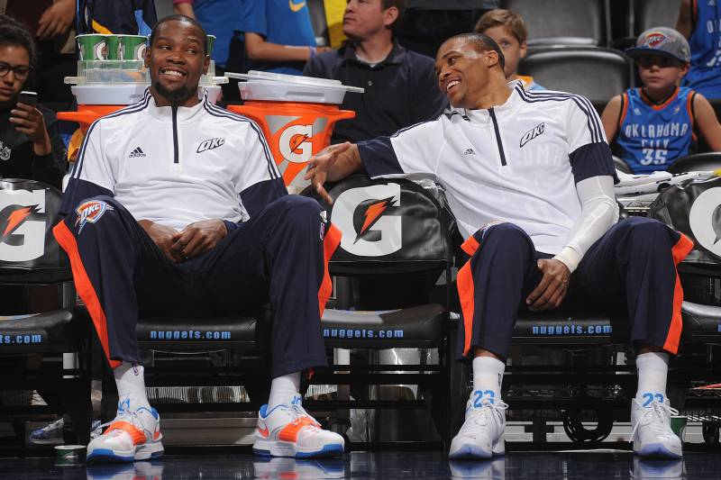 048cf211ab43 Can Thunder Tread Water in West Until Kevin Durant and Russell Westbrook  Return