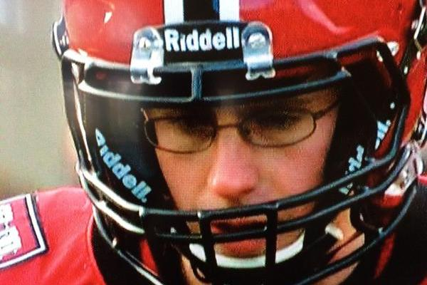 08698fadbab Harvard Kicker Wears Glasses During Live Play vs. Yale