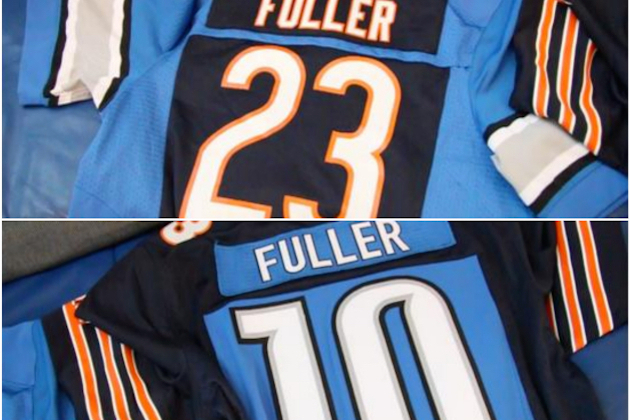 f6de4cca Parents of Bears and Lions Players Create Custom Hybrid NFL Jerseys ...