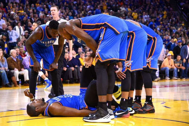 ff498f38542 Kevin Durant Injury  Updates on Thunder Star s Ankle and Return ...