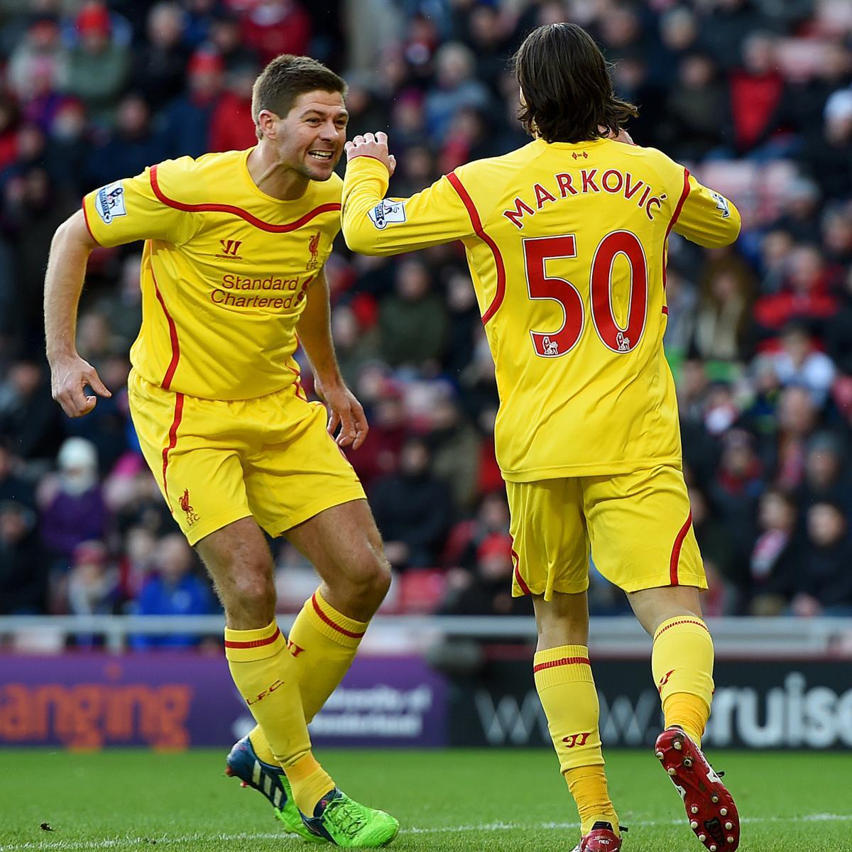 Sunderland Vs. Liverpool: Live Score, Highlights From