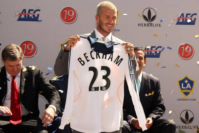 a70c9b64ec0 CARSON, CA - JULY 13: David Beckham is officialy announced as a LA Galaxy