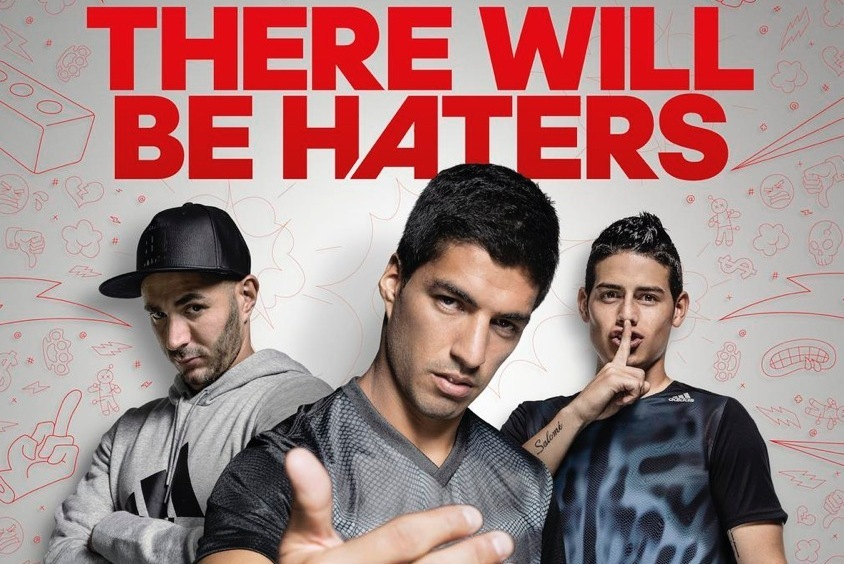Oblicuo evitar marido  James, Bale, Benzema and Suarez Star in New 'There Will Be Haters' Adidas  Ad | Bleacher Report | Latest News, Videos and Highlights