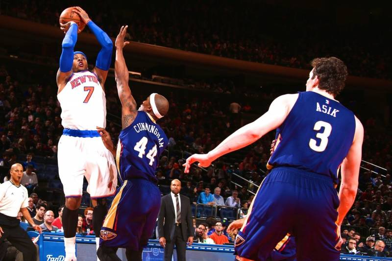 31585593cc48 Getty Images. The New York Knicks defeated the New Orleans Pelicans ...