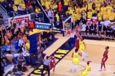 Wisconsin's Sam Dekker Throws Down over Michigan Defender, Cuts Hand on Rim