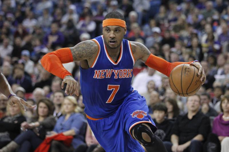 b30f7ce727a Carmelo Anthony Says He ll Likely Be out for Season After 2015 All-Star Game