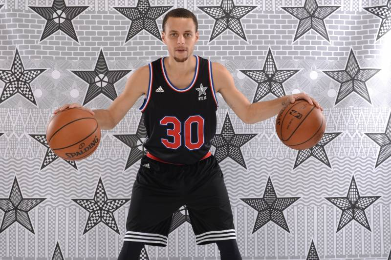 e563203b8 NBA All-Star Game 2015  East vs. West Jerseys and Top Player Shoes ...