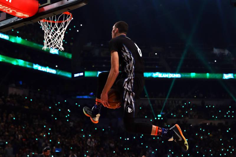 hot sale online 076ee 9bc8f Zach LaVine's Best and Worst Slams of the Event | Bleacher ...