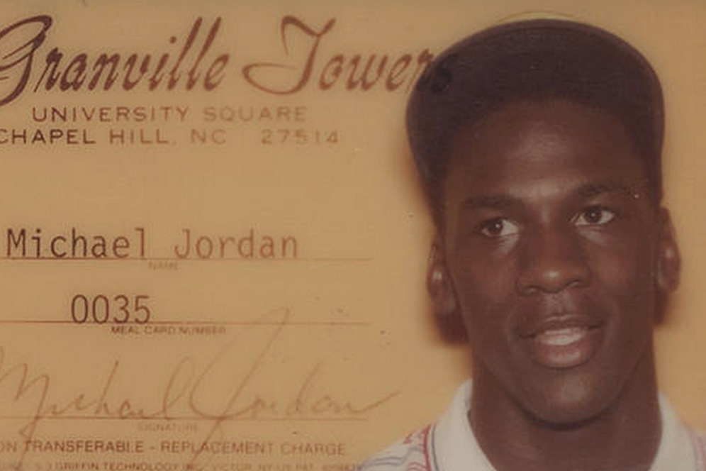 ef2555740d7 Michael Jordan s College Residence Hall ID Card Is Cooler Than Yours ...