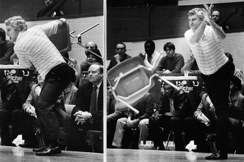 bobby knight chair throw We Remember: 30th Anniversary of Bobby Knight Throwing Chair  bobby knight chair throw
