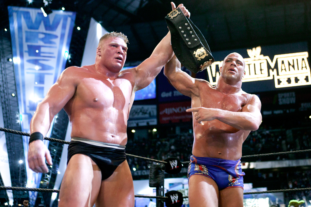 WWE Classic of the Week: Brock Lesnar vs. Kurt Angle from WrestleMania XIX  | Bleacher Report | Latest News, Videos and Highlights