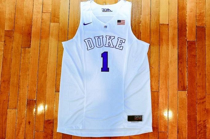 sale retailer e7eb2 90246 Duke Reveals 'All-White' Basketball Jersey for ACC Showdown ...