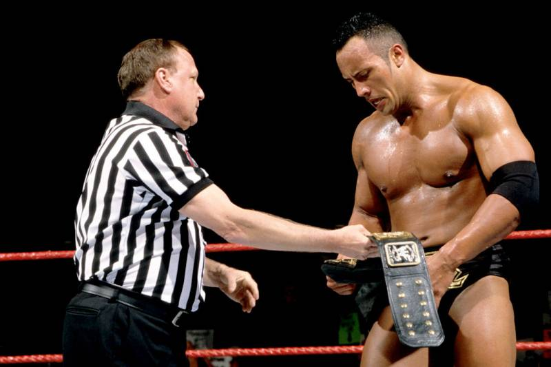 Image result for backlash 2000 HHH vs The Rock