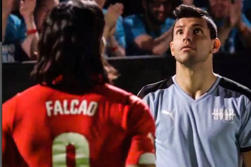 authorized site meet price reduced Sergio Aguero and Radamel Falcao Star in Pre-Manchester ...