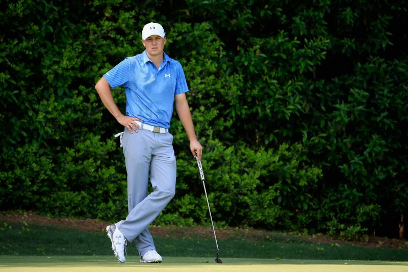 23d8a0f1d9 AUGUSTA, GA - APRIL 11: Jordan Spieth of the United States waits on the