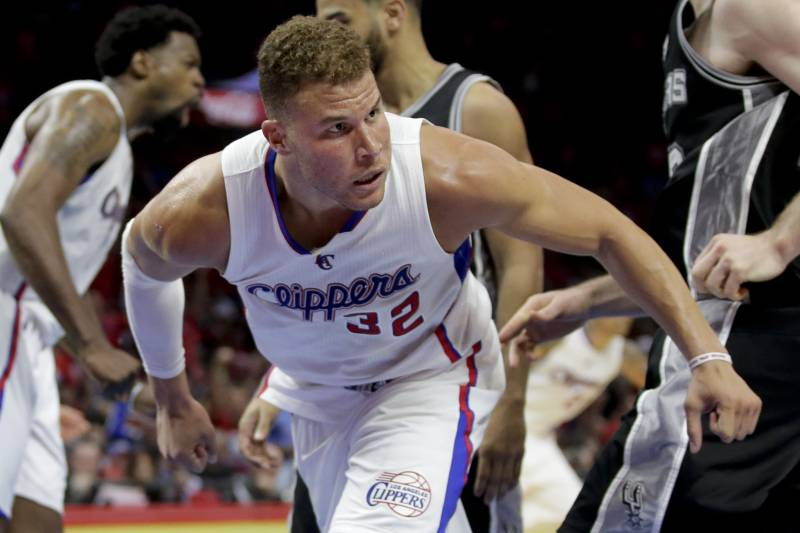 53e742060b4b Los Angeles Clippers forward Blake Griffin plays against the San Antonio  Spurs during the second half
