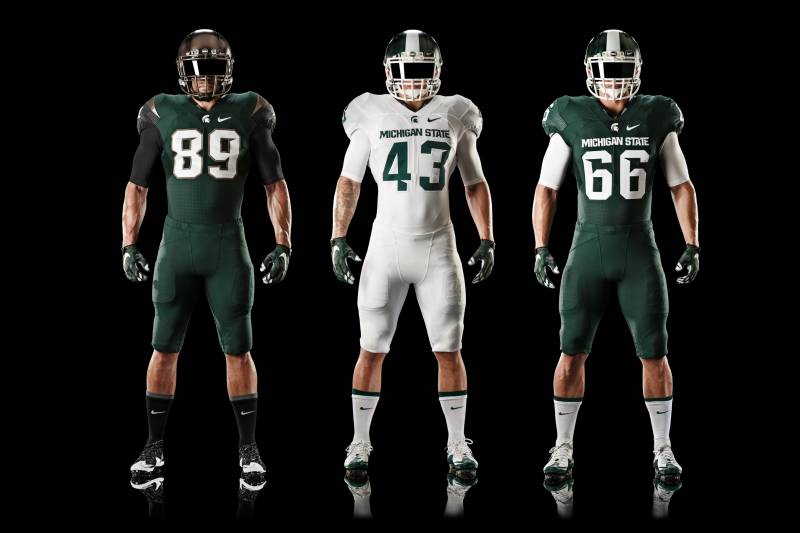 90279d4e319 Michigan State Unveils All-New Nike Alternate Uniforms