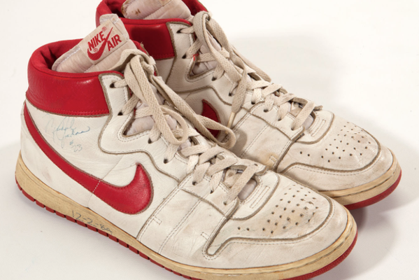 Nike Shoes Worn by Michael Jordan During Rookie Season Sell for