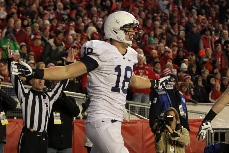 7a9c3fbc Former Penn State tight end Jesse James could be one of the few Round 5  draft