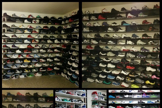 Colin Kaepernick Has Huge Sneaker Collection In Garage Turned Into Shoe Closet