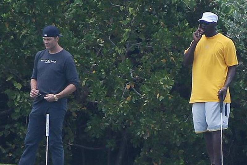 a97f996cceea Patriots  Tom Brady Plays Golf with Michael Jordan in the Bahamas ...