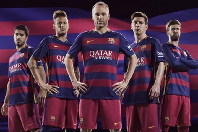 Barcelona Reveal New Kits for the 2015-16 Season with Horizontal Stripes  627a265a4