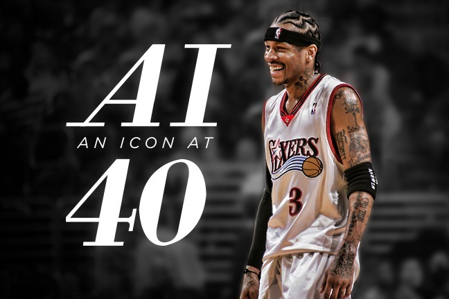 dd14a280538 An Icon at 40: The Untold Story of Allen Iverson | Bleacher Report ...