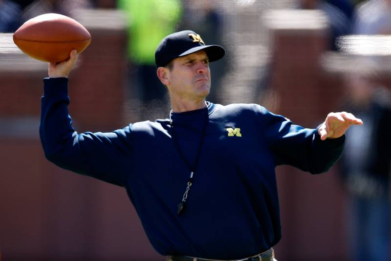 brand new 25165 1310d Jim Harbaugh s unconventional methodology could restore normalcy to  Michigan.