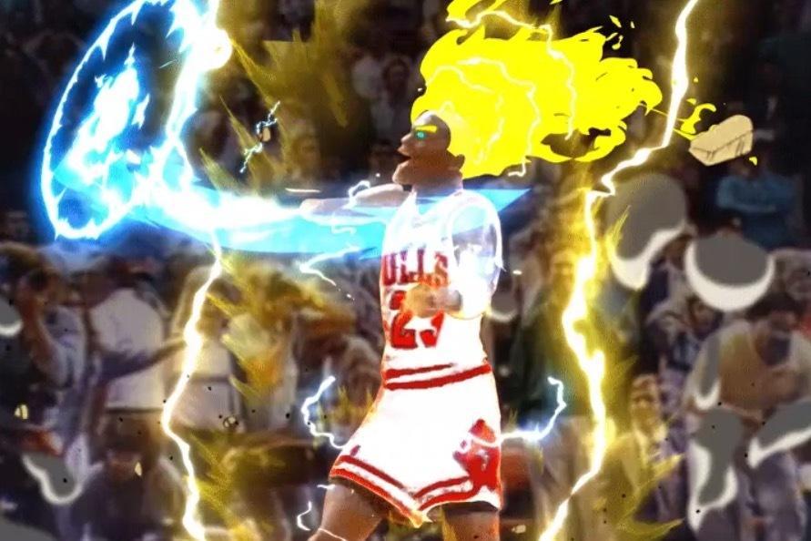 Redditor Turns Michael Jordan S Legendary Shot Vs Cavs Into Super Saiyan Gif Bleacher Report Latest News Videos And Highlights