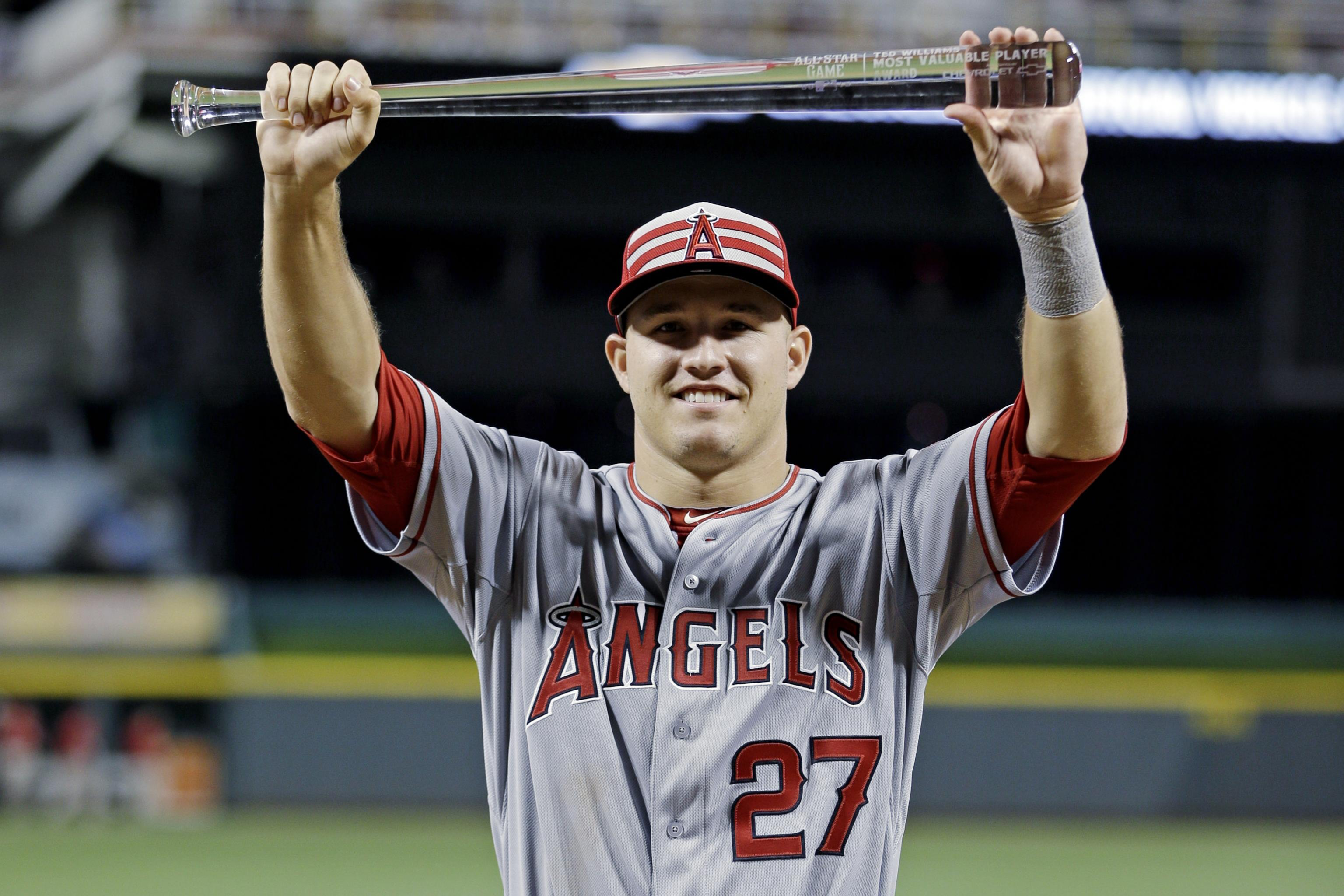 competitive price f08cb b4ff9 MLB All-Star Game 2015 MVP: Mike Trout's Stats, Highlights ...