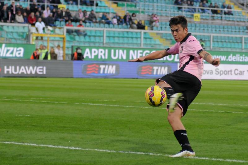 79e36a355e0 Palermo s Paulo Dybala scores his side fourth goal during the Serie A  soccer match between Palermo