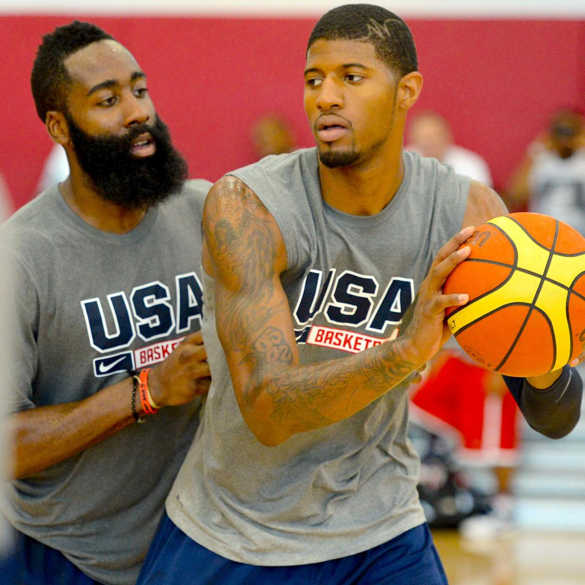 James Harden Basketball Camp: Predicting The USA Basketball Men's National Team Roster
