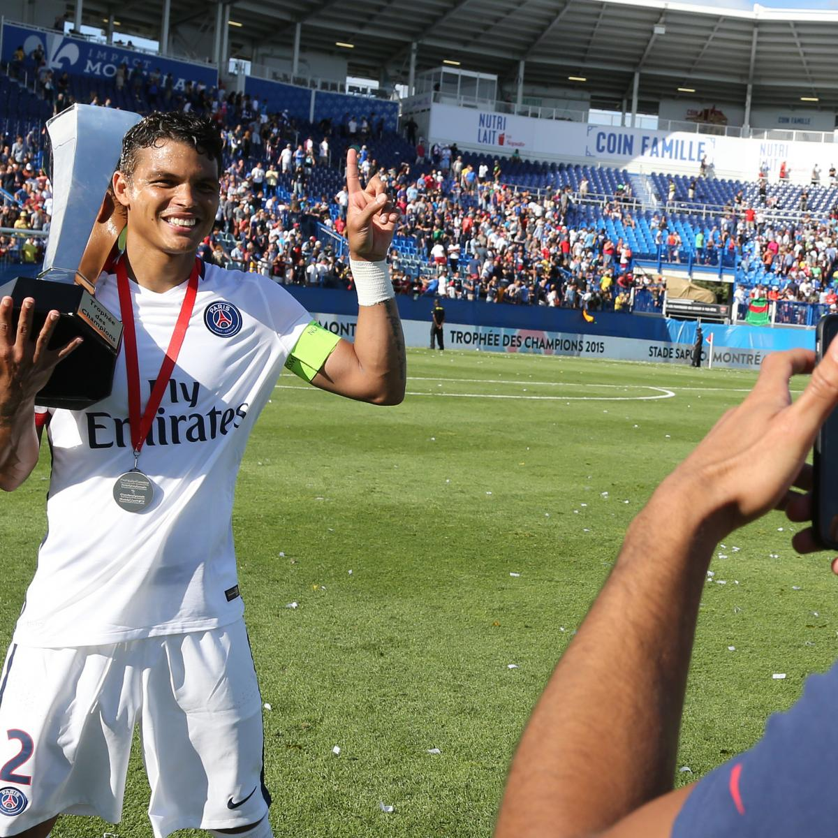 twitter reacts as thiago silva claims psg are 39 step up 39 from manchester united bleacher report. Black Bedroom Furniture Sets. Home Design Ideas