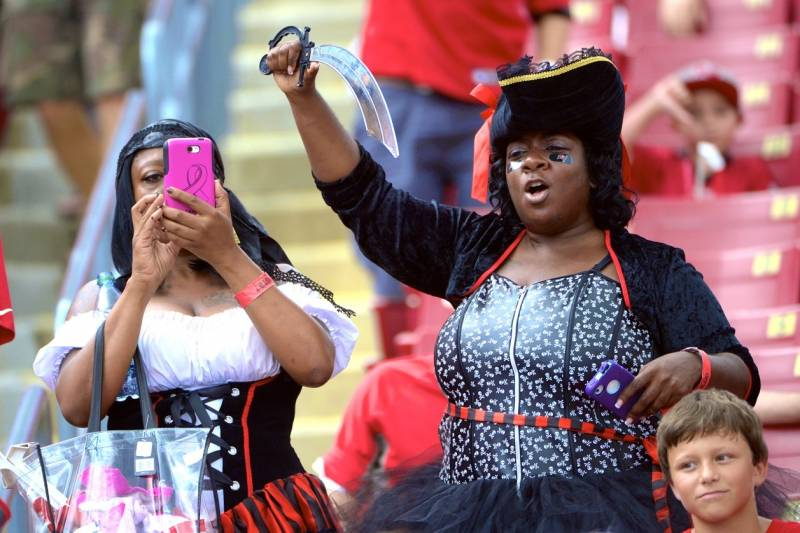 67366dff Buccaneers Launch 'RED' Campaign to Teach Women Football and ...