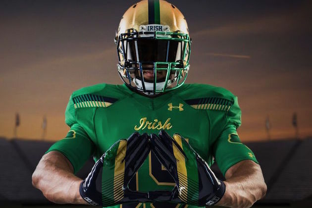 6cd7ced01 Meet the Man Behind Notre Dame s Green Monster Inspired Uniforms ...