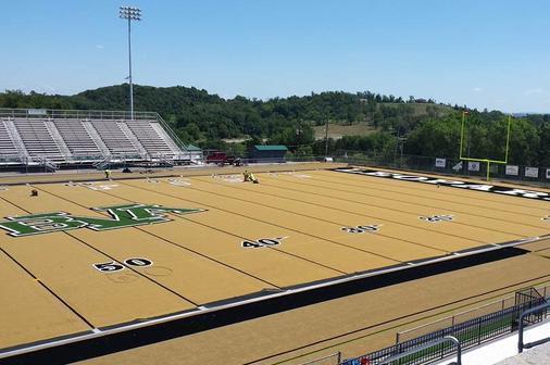 Pennsylvania High School Adds Gold Turf To Football