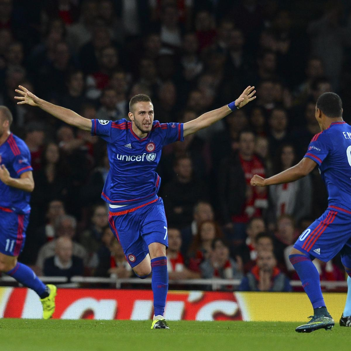 Arsenal vs. Olympiakos: Live Score, Highlights from