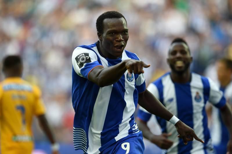 e86e809dbaf Porto s Cameroonian forward Vincent Aboubakar celebrates after scoring the  opening goal during the Portuguese league football