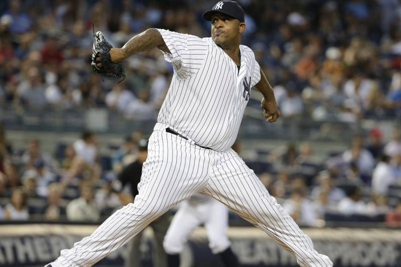 179e80e75 New York Yankees  CC Sabathia winds up during the third inning of a baseball  game