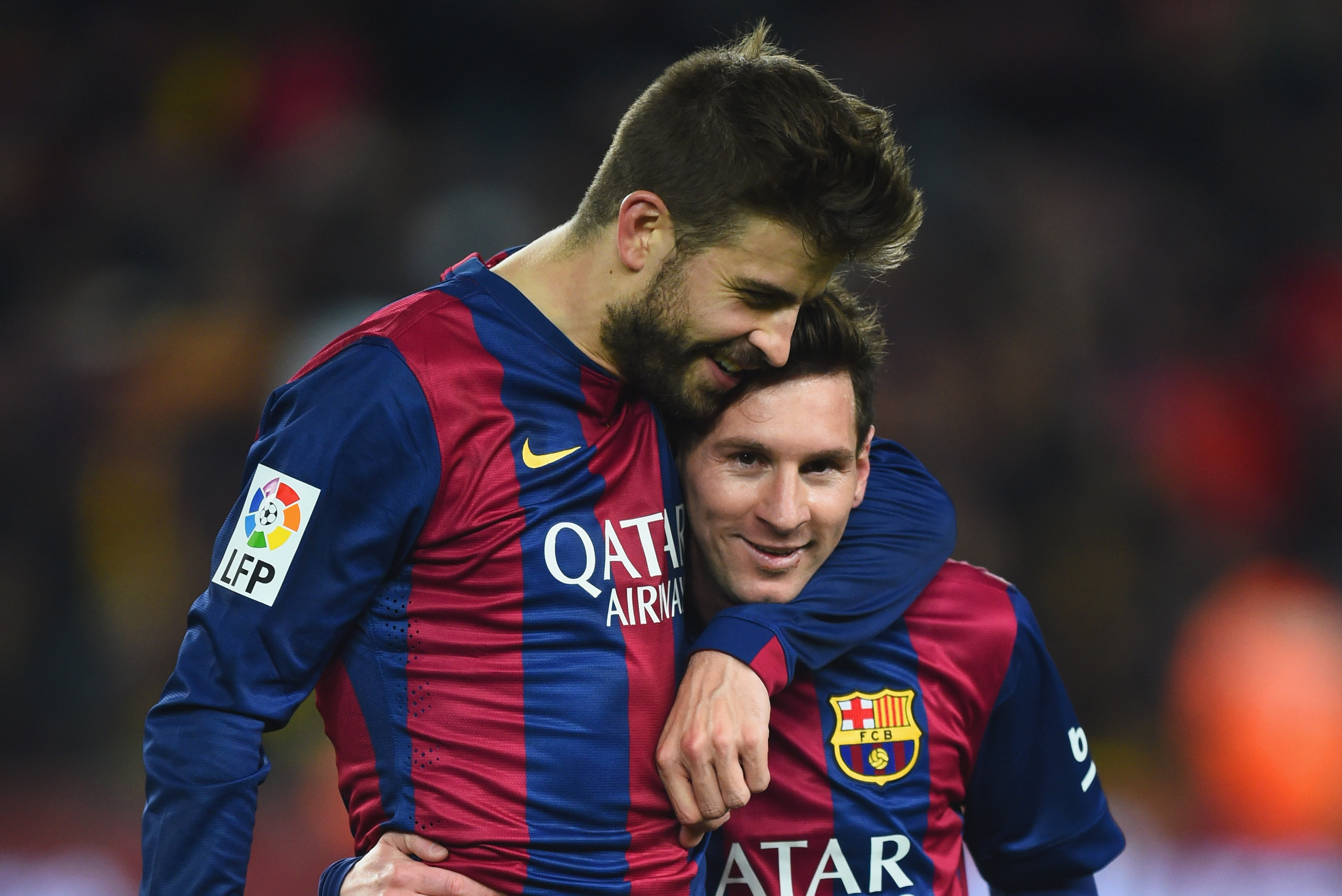 Image result for gerrard pique and messi